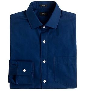 J. Crew Ludlow Shirt Navy Blue Button Up Poplin L